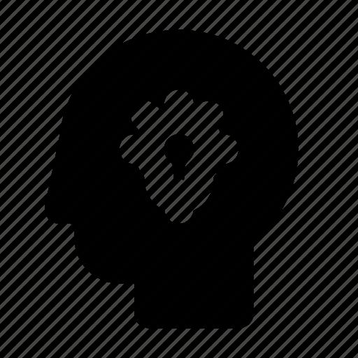 Brain, creativity, head, idea, lamp, think icon - Download on Iconfinder