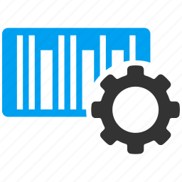 bar code, barcode, configuration, gear, options, preferences, tools icon