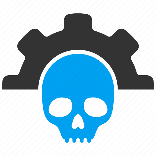 dead, death, options, preferences, settings, skull, tools icon
