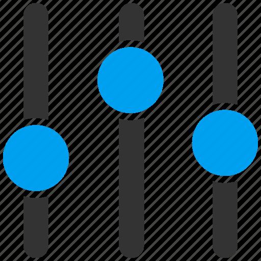 audio, balance, equalizer, levels, measurement, sound, volume icon