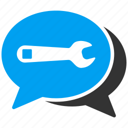 bubble, chat, communication, forum, repair, service, talk icon