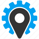 factory, location, navigation, place, plant, pointer, service icon