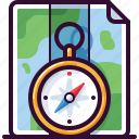 compass, gps, location, map, navigation, travel icon