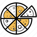 pizza, food, slice, bread, bake, fast food, junk food icon