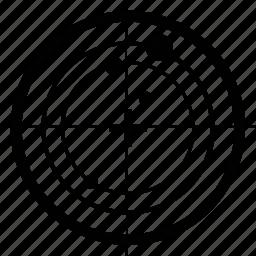 circular, coordinates, radar, scan, search, technology icon