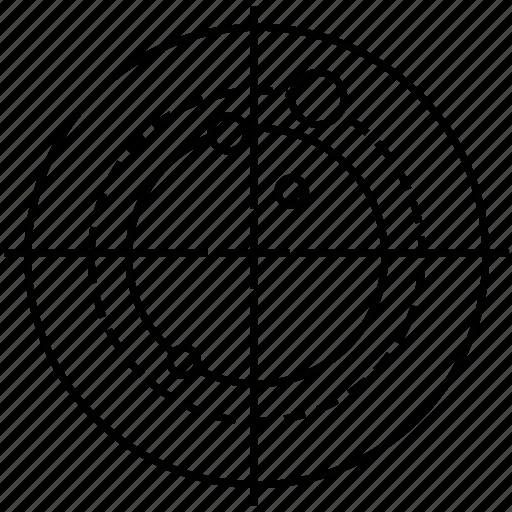 circular, coordinates, radar, scan, search icon