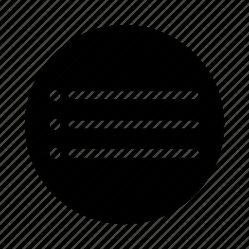 bullet, hamburger, lines, menu icon