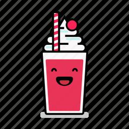 beverage, happy, laughing, milk, milkshake, shake, straw icon