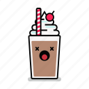 beverage, dead, milk, milkshake, shake, straw, unhealthy icon