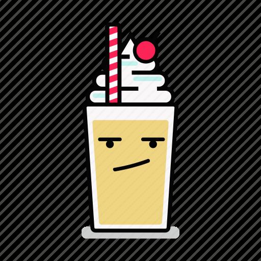 angry, beverage, milk, milkshake, shake, straw, upset icon