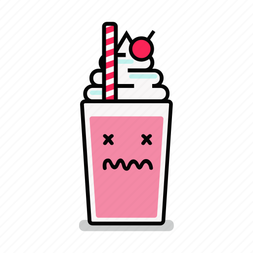 beverage, dead, junk, milk, milkshake, shake, straw icon