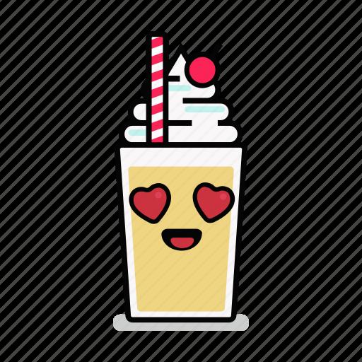 beverage, love, milk, milkshake, shake, straw, valentine icon