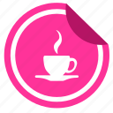 cafe, coffee, cup, drink, sticker, tea icon