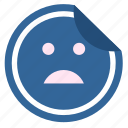 bad, dislike, face, label, sticker icon