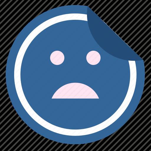 bad, dislike, face, label, sticker icon