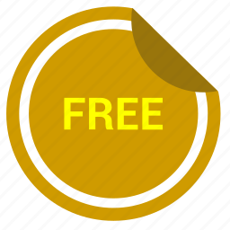 free, freeware, internet, shopping, sticker icon