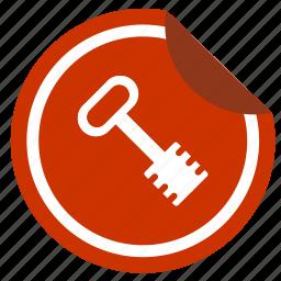 access, enter, key, sticker icon