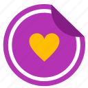 label, like, love, romantic, sticker icon