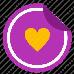 label, like, love, romantic, sticker icon