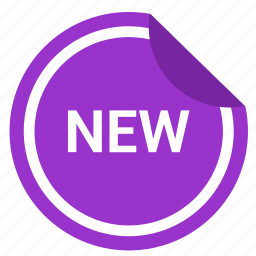 label, new, news, sticker icon