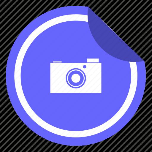 camera, digital, label, photo, shot, sticker icon