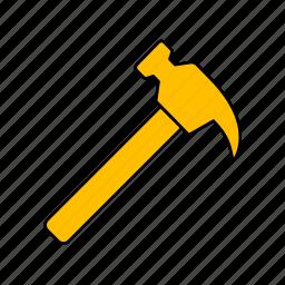 crash, hammer, hummer icon, put icon