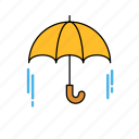 its rain, rain, umbrella, umbrella icon icon