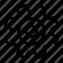 cogs, gear, setting, wheel icon