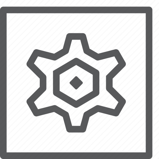 cog, configure, customize, gear, preferences, process, settings, square icon