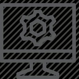 cog, computer, configure, customize, gear, preferences, process, settings icon