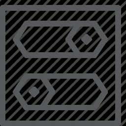 adjust, configuration, filter, horizontal, installation, options, settings, setup icon