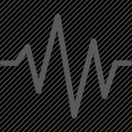 heartbeat, lifeline, pulse, sensor, settings, signal, wave icon