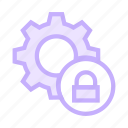 configuration, lock, protection, security, setting icon