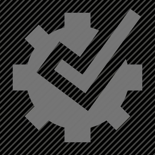 check, configuration, gear, select icon