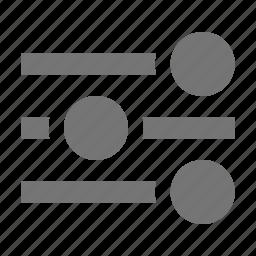 settings, sliders icon