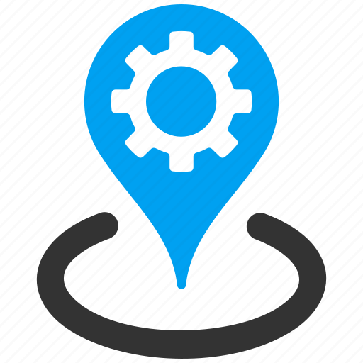 fabric, factory, location, map marker, plant, pointer, position icon