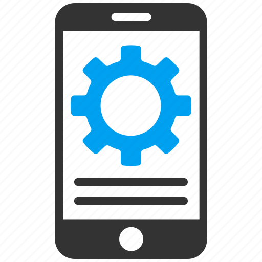 gear, options, phone, preferences, settings, smartphone, tools icon