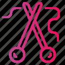 designer, fashion, handcraft, knitting, neddles, needle icon