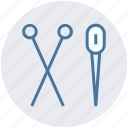 edit, needle, scissor, sewing, tailoring, thread icon