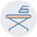 furniture, iron, iron stand, iron table, tailoring icon