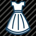 dress design, female shirt, frock, garment, prom dress, readymade dress, tunic icon