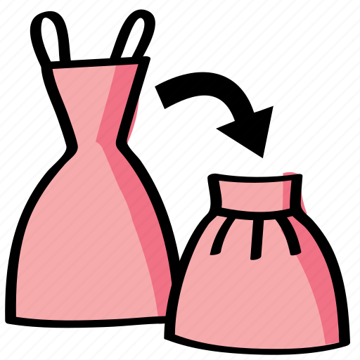 diy, dress, reform, reshape, sew, sewing, skirt icon