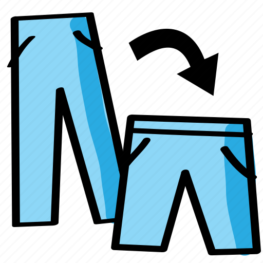 diy, pants, reshape, sew, sewing, trousers icon