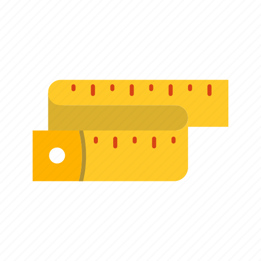 gauge, measuring, number, scale, sewing, tailor, tape icon