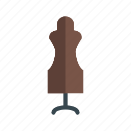 designer, dress, dummy, fashion, mannequin, sewing, tailor icon