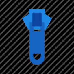 clothing, fabric, fashion, metal, open, zip, zipper icon