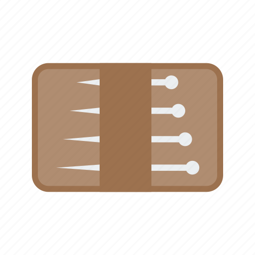 needles, pack, pin, sewing, tailor, thread, tool icon