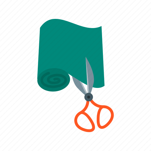 cloth, cutting, dress, dressmaker, scissor, sewing, tailor icon