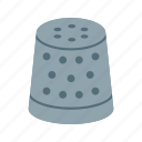 clothing, craft, equipment, needle, sewing, thimble, thread icon