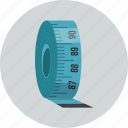 centimeter, measure, meter, ruler, sewing, tape icon